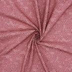 Coton imprimé lie de vin et rose