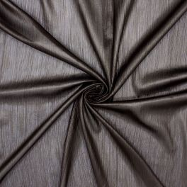 Satinised veil 100% polyester - brown