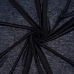Thin ribbed jersey fabric - black