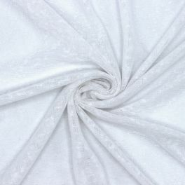 Perforated fabric - white