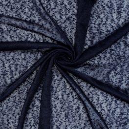 Geperforeerde stof - zwart
