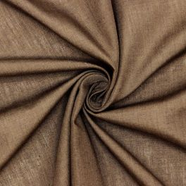 Veil in polyester and cotton - brown