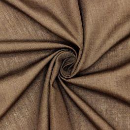 Voile de polyester et coton brun