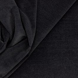 Velours extensible côtelé gris