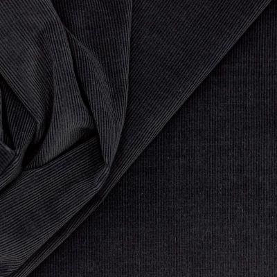 Rekbare geribbeld fluweel - grijs