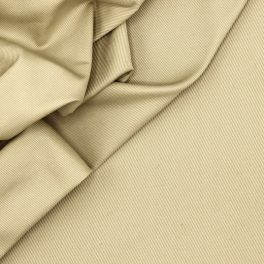 Extensible cotton with twill weave - beige