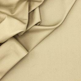 Rekbare katoen met keperbinding - beige
