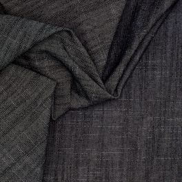 Denim fabric with flamed effect