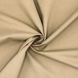 Stretch emerised cotton with twill weave - beige