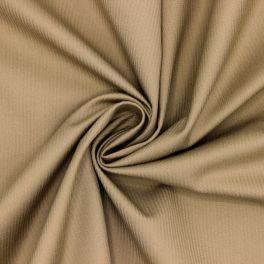 Striped cotton with twill weave - coffe with milk