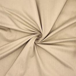 Emerised stretch cloth with striped twill weave