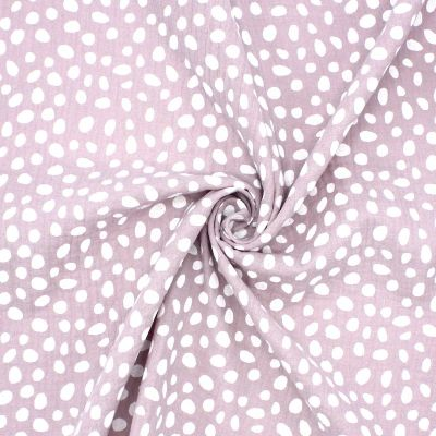 Double cotton gauze with dots - old pink