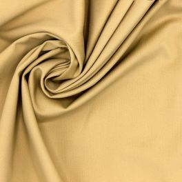Satin de coton stretch beige