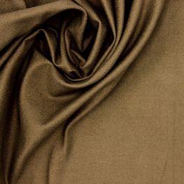 Tissu en coton gratté stretch kaki