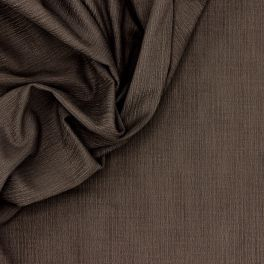 Toile stretch émerisée brune effet vieilli