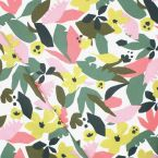 Coated cotton with foliage print