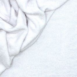 Double-sided terry fabric with loops - white