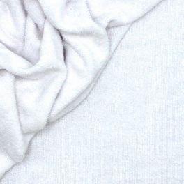 Tissu éponge bouclette 2 faces blanc