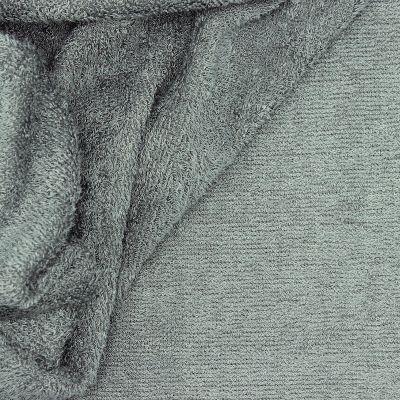 Tissu éponge bouclette 2 faces gris