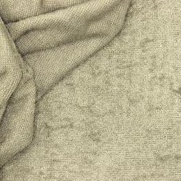 Tissu éponge bouclette 2 faces lin
