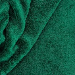 Heavy terry fabric 100% cotton - fir green