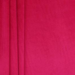 Tissu velours souple fushia