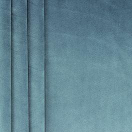 Tissu velours souple bleu acier