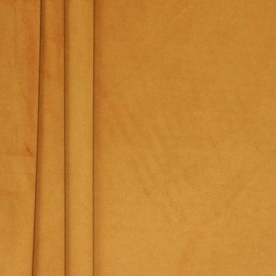 Tissu velours souple moutarde