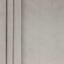 Tissu velours souple gris perle