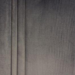 Tissu velours souple gris