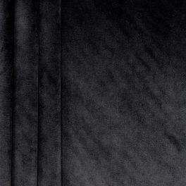 Tissu velours souple noir