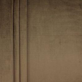 Tissu velours souple marron