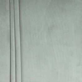 Tissu velours souple gris acier