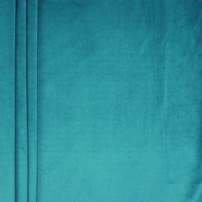 Soepele fluweel - pauwblauw