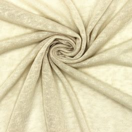 Flamed light jersey fabric - beige
