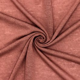 Flamed jersey fabric - terracotta