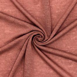 Tissu jersey effet flammé tomette