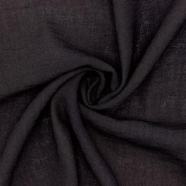 Tissu type crêpe noir