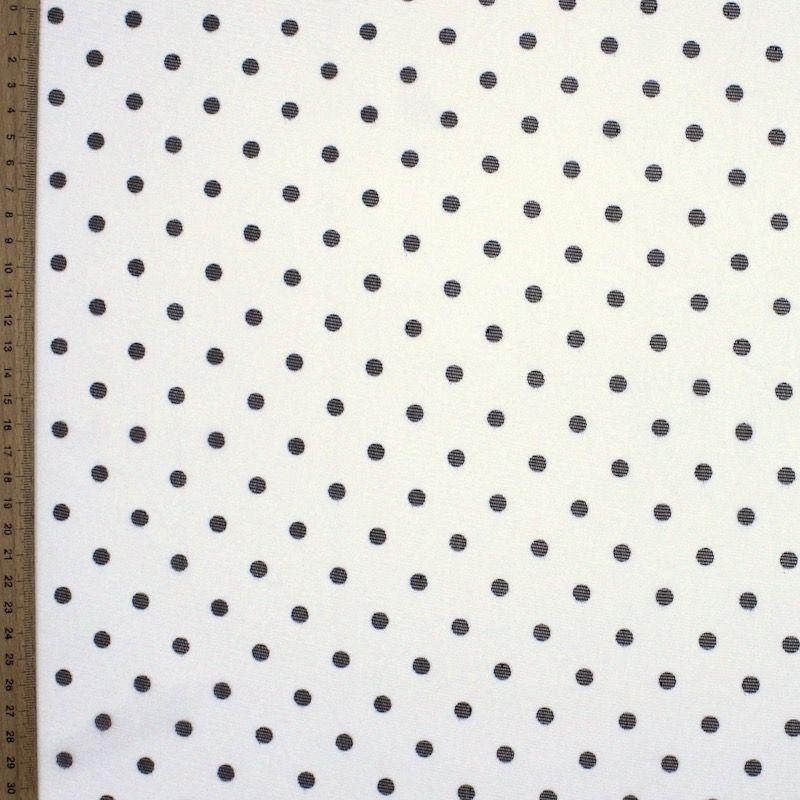 Tissu résille blanc à pois