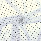 Fishnet with dots - white