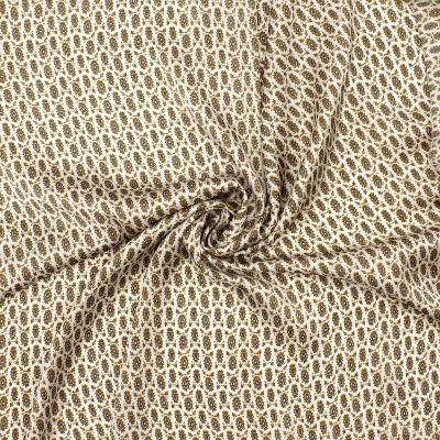 Satin polyester à motifs