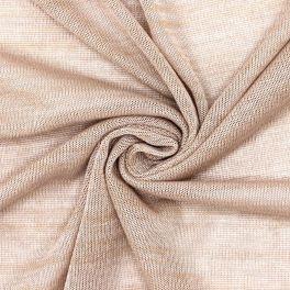 Tissu maille rose poudré chiné