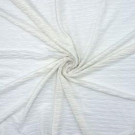 Jersey froissé blanc