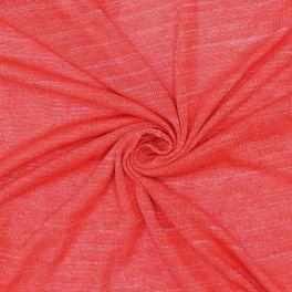 Tissu maille corail effet flammé