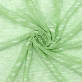 Knit fabric with flamed effect - green