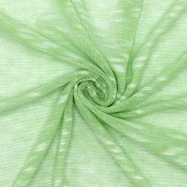 Tissu maille vert effet flammé