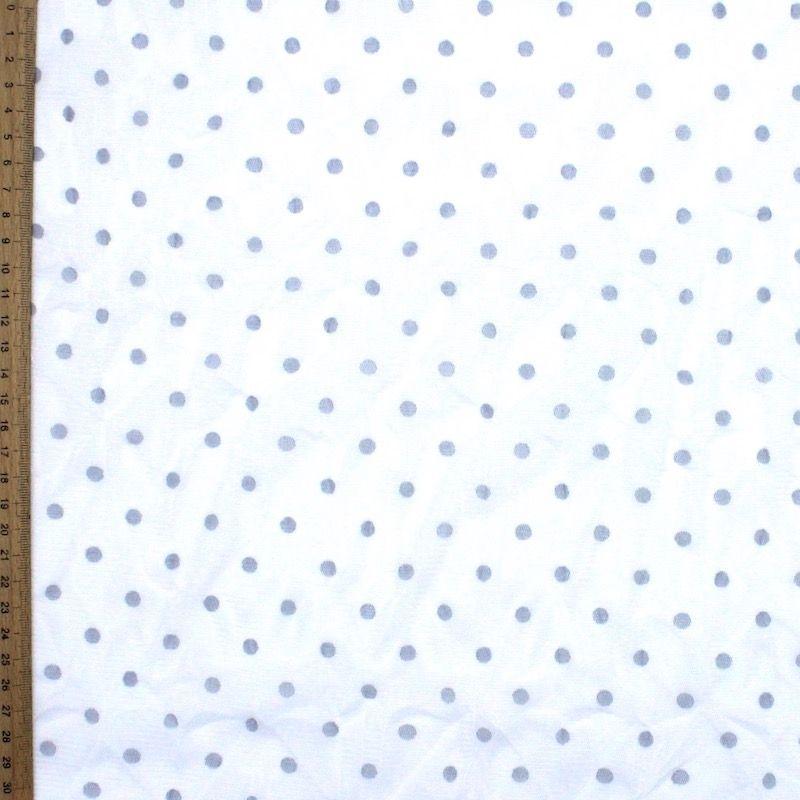 Tissu résille extensible blanc à pois