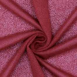 Light knit fabric in polyester - burgondy