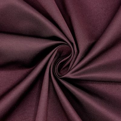 Satin de coton bordeaux
