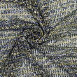 Knit fabric with fantasy thread